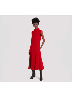 Mulberry Primrose Dress in Scarlet Fluid Crepe