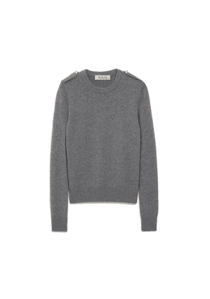 Mulberry Nancie Crew Neck Jumper in Charcoal Winter Wool