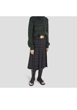 Mulberry Gia Skirt in Mulberry Green Tartan Wool