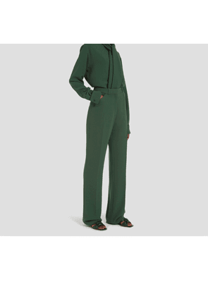 Mulberry Genevieve Trousers in Mulberry Green Fluid Crepe