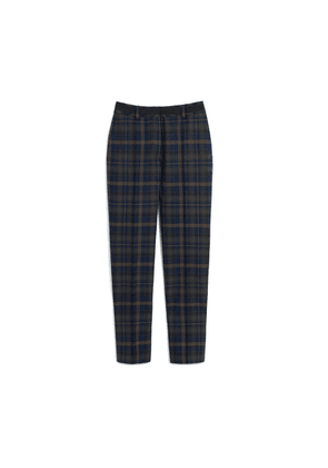 Mulberry Lucie Trousers in Mulberry Green Tartan Wool