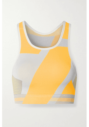 Nike - Icon Clash Color-block Dri-fit Stretch-knit Sports Bra - Pastel orange
