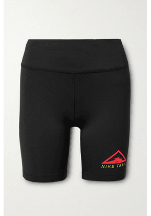 Nike - Fast Short Trail Printed Dri-fit Shorts - Black