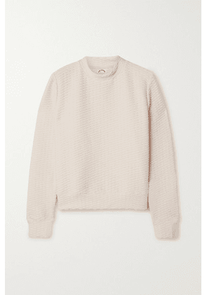 The Upside - Inverto Textured Stretch-knit Sweatshirt - Pastel pink