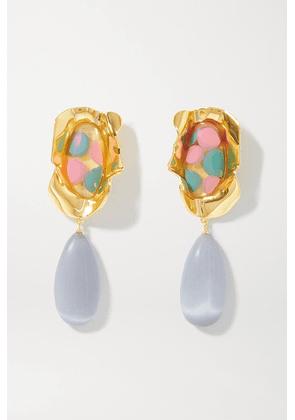 Ejing Zhang - Sabra Gold-plated And Resin Earrings - one size