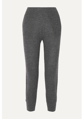 Skin - Marlowe Waffle-knit Wool-blend Track Pants - Charcoal