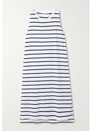 Skin - Elanie Striped Stretch-jersey Dress - Blue