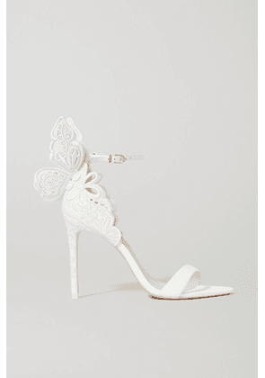 Sophia Webster - Chiara Embroidered Leather Sandals - White