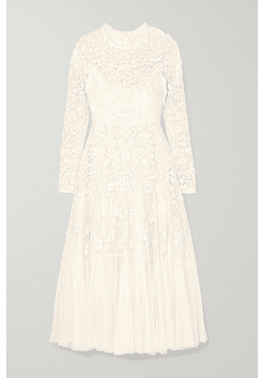 Needle & Thread - Bella Embellished Tulle Midi Dress - Ivory