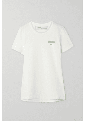 Off-White - Printed Cotton-jersey T-shirt - small