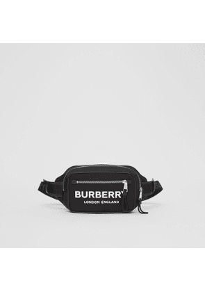 Burberry Logo Print ECONYL Bum Bag, Black