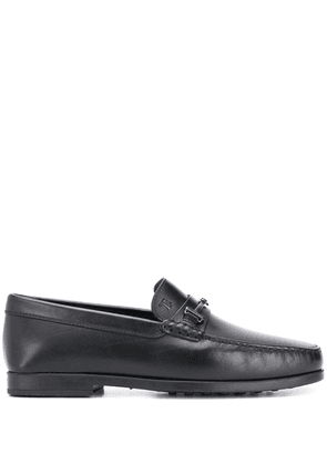 Tod's double T leather loafers - Black