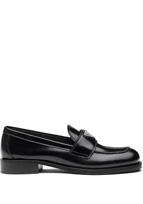 Prada leather loafers - Black