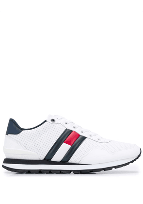 Tommy Jeans flag detail low-top sneakers - White