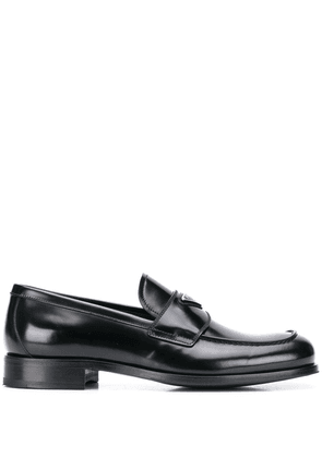 Prada logo plaque loafers - Black