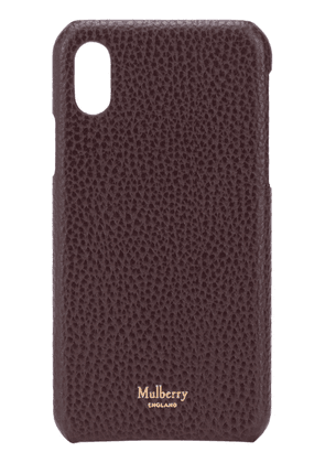 Mulberry iPhone X/XS logo-stamp phone case - Red