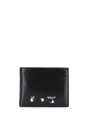 Off-White OW logo bifold wallet - Black