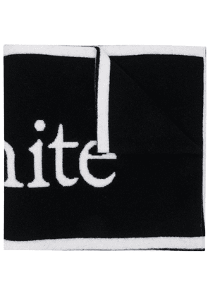 Off-White LOGO FELTED WOOL SCARF BLACK WHITE