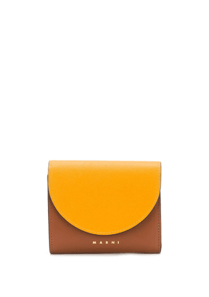Marni colourblock card holder - Yellow