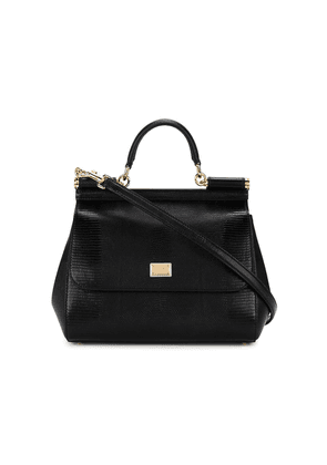 Dolce & Gabbana medium Black Sicily shoulder bag