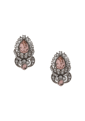 Dolce & Gabbana rhinestone-embellished earrings - SILVER