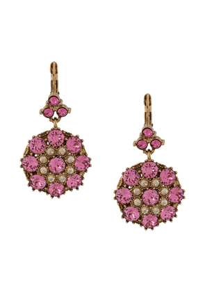 Dolce & Gabbana pendant rhinestone earrings - GOLD