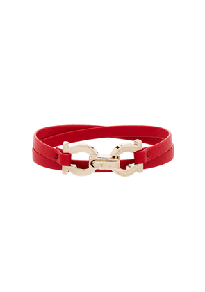 Salvatore Ferragamo wrap around clasp bracelet - Red