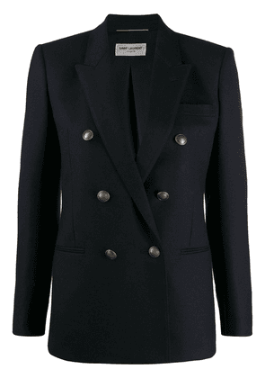 Saint Laurent double-breasted fitted blazer - Blue