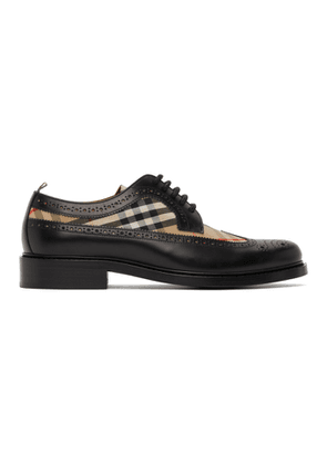 Burberry Black Leather Check Brogues