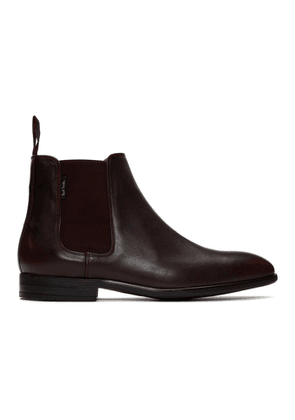 PS by Paul Smith Burdundy Gerald Chelsea Boots