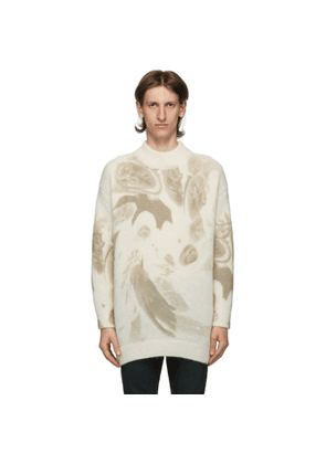 424 Off-White Mohair Oversized Crewneck