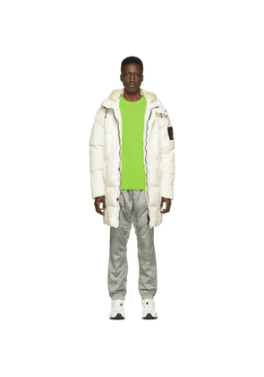 Stone Island Off-White Down Hooded Puffer Jacket