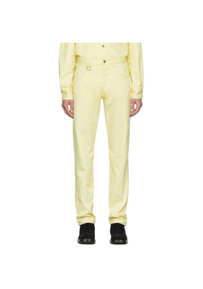 Raf Simons Yellow Two Ring Regular Fit Jeans