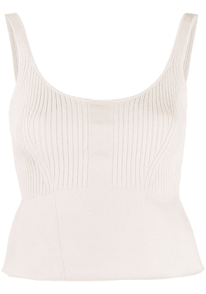 3.1 Phillip Lim DOUBLE FACE KNIT CROPPED TANK - White