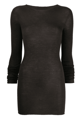 Rick Owens knitted longline top - Brown