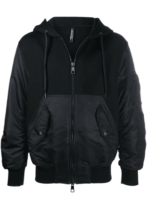 Neil Barrett zipped hooded jacket - Black