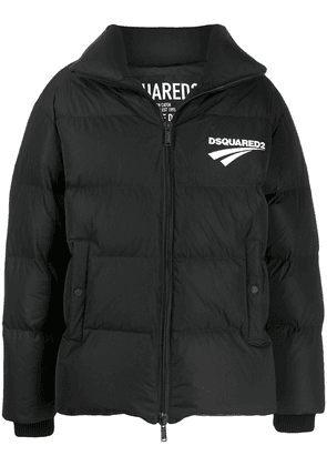 Dsquared2 logo-print padded jacket - Black