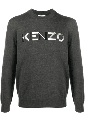 Kenzo embroidered logo jumper - Grey