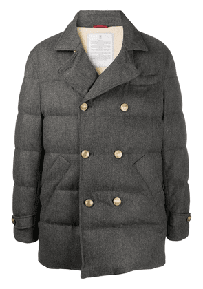 Brunello Cucinelli quilted double-breasted jacket - Grey