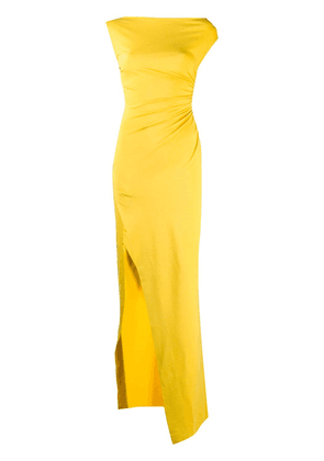 Dsquared2 asymmetric ruched maxi dress - Yellow