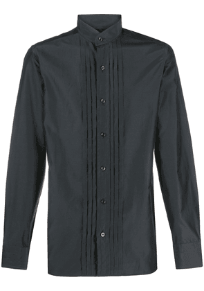 Tom Ford pleated front shirt - Black
