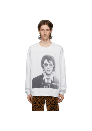 R13 Grey Oversized Elvis T-70 Sweatshirt
