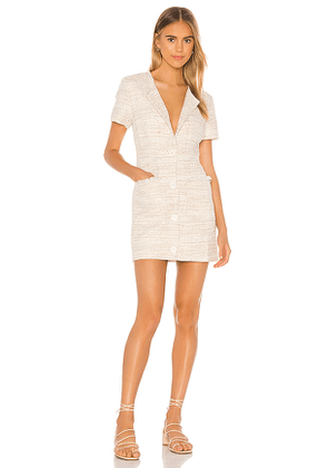 L'Academie The Lola Mini Dress in Ivory. Size S.