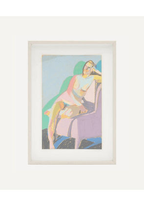 Hester Finch 'Nude in Yellow with Green Shadow' Framed Original Artwork