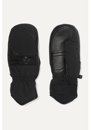 BOGNER FIRE+ICE - Petula Padded Leather And Shell Ski Mittens - Black