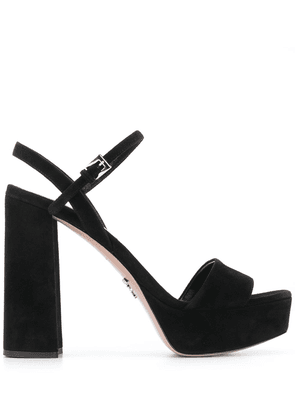 Prada strappy 115mm platform sandals - Black