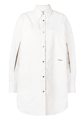 Calvin Klein 205W39nyc oversized shirt jacket - White