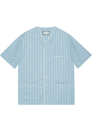 Gucci GG stripe shirt - Blue