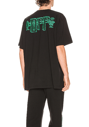 OFF-WHITE Universal Key Short Sleeve Tee in Black & Mint - Black. Size S (also in ).