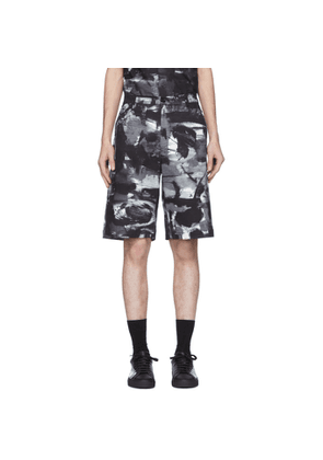 Moschino Black and White Mid-Length Shorts